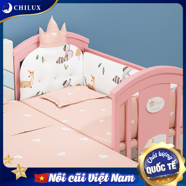 Nôi em bé Chilux cùng với chế độ ghép chung với giường bố mẹ
