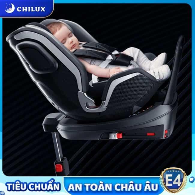 Ghế ngồi ô tô cho bé Chilux lắp đặt Isofix tương thích nhiều dòng xe khác nhau
