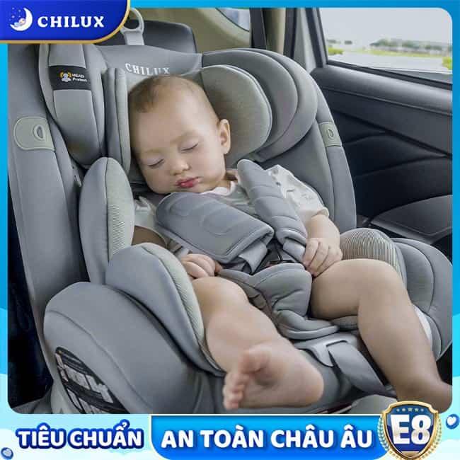 Ghế ô tô cho bé Chilux Roy 360 an toàn với đai an toàn 5 điểm chắc chắn