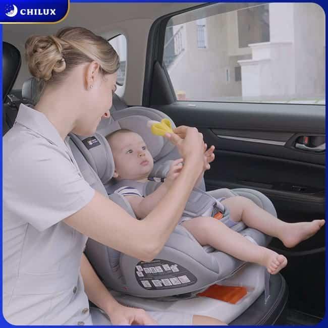 Ghế ngồi ô tô cho bé đạt tiêu chuẩn an toàn Châu Âu ECE R44/04 giúp ba mẹ yên tâm sử dụng, con yêu an toàn